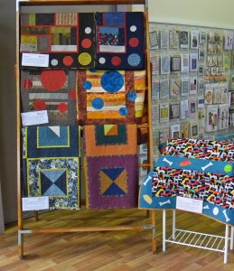 Quilt exhibition - quilts on display as you enter