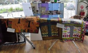 Quilt exhibition - smaller quilts on display