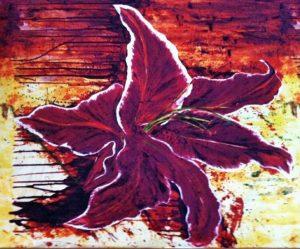 Tiger Lily flower print