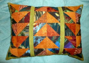 Close-up of the pillow pattern