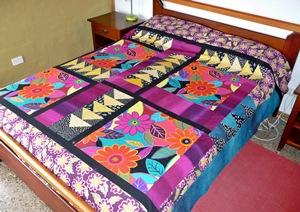 """Alternate quilt with """"retro"""" fabric"""