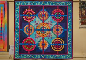 South Africa was one of the guest nations. This quilt is all hand appliquéd.