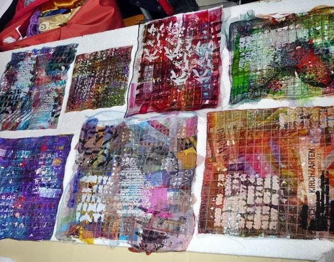 Quilting with plastic bags