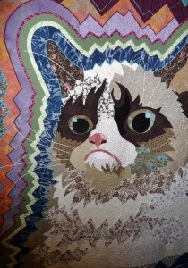 Grumpy Cat in a quilt - not on it!!!