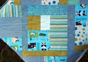 My first baby quilt from scrap