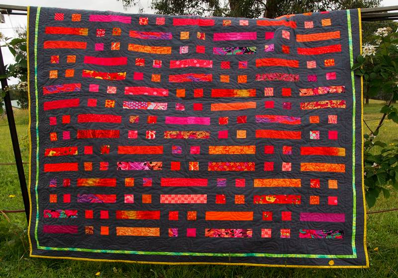 Full view of the bushfire quilt