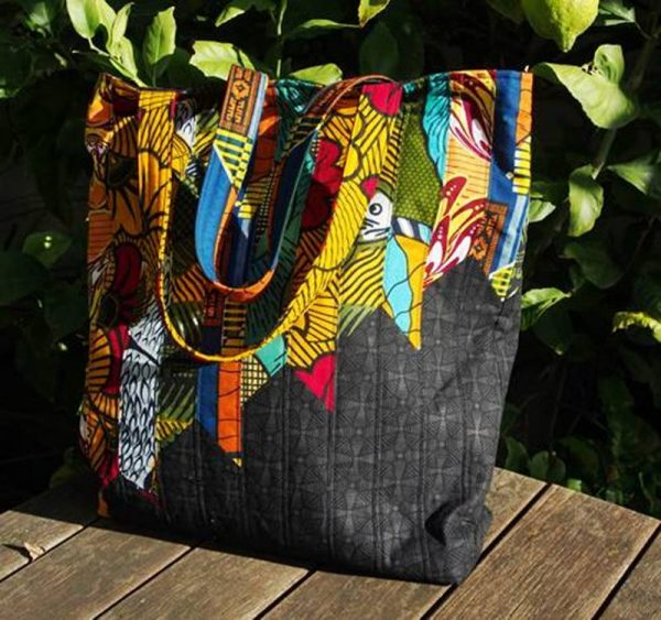 Tote bag in African fabric
