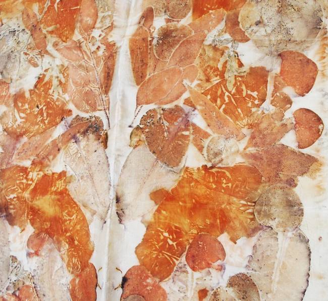 Eco dyed silk example