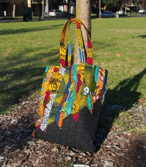Tote bag pattern made with African fabric