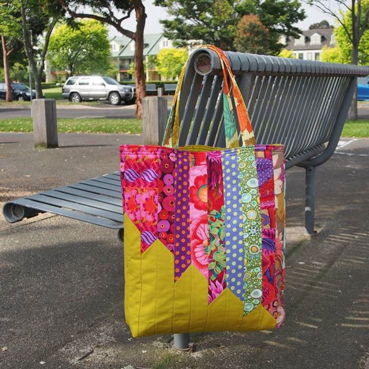 Make a statement with this colourful tote bag