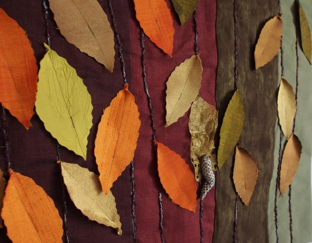 My Autumn Leaves quilt that I entered into a competition
