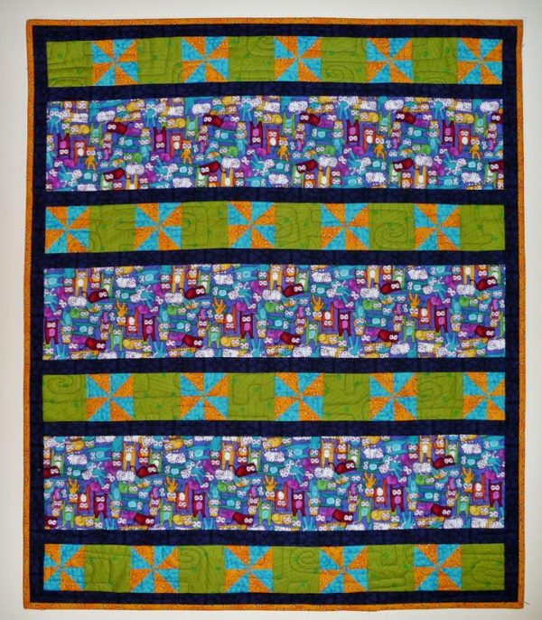 Alternate colorway for a more masculine quilt