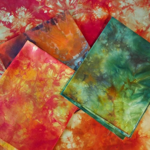 Love the bright colours of ice dyed fabric