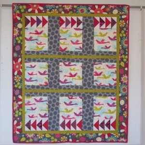 The finished Flight of Fancy quilt