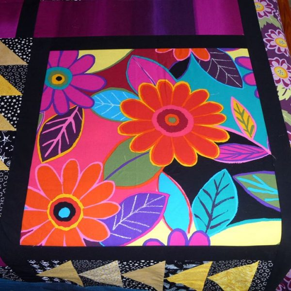 One of the retro large flower panels