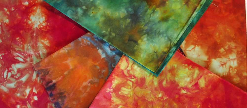Ice dyeing workshops with Leslie Edwards