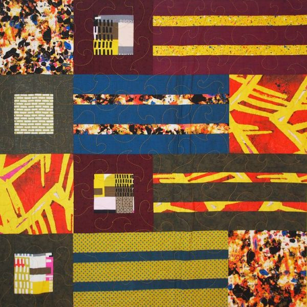 Closeup corner view of the Metro quilt pattern