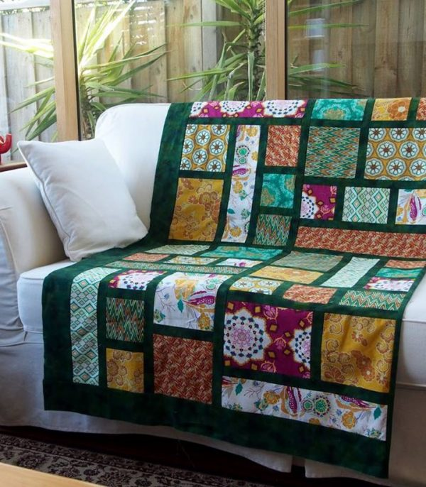 Stained Glass quilt in alternate colorway