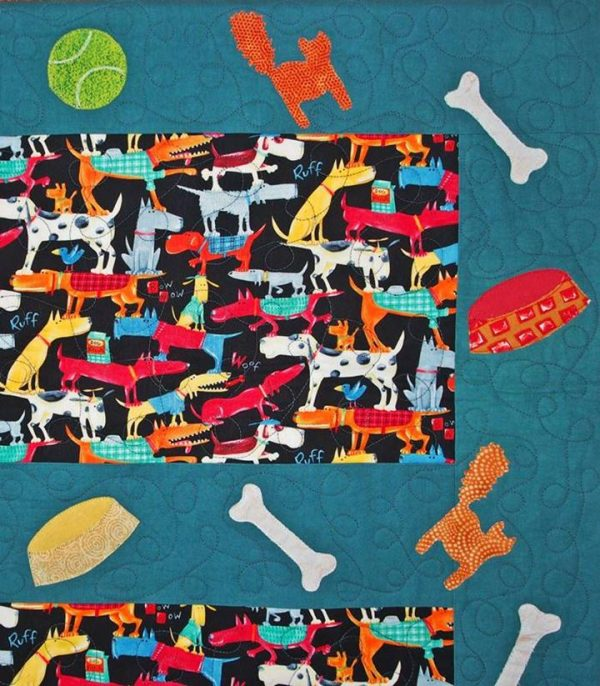 Love this dog theme fabric