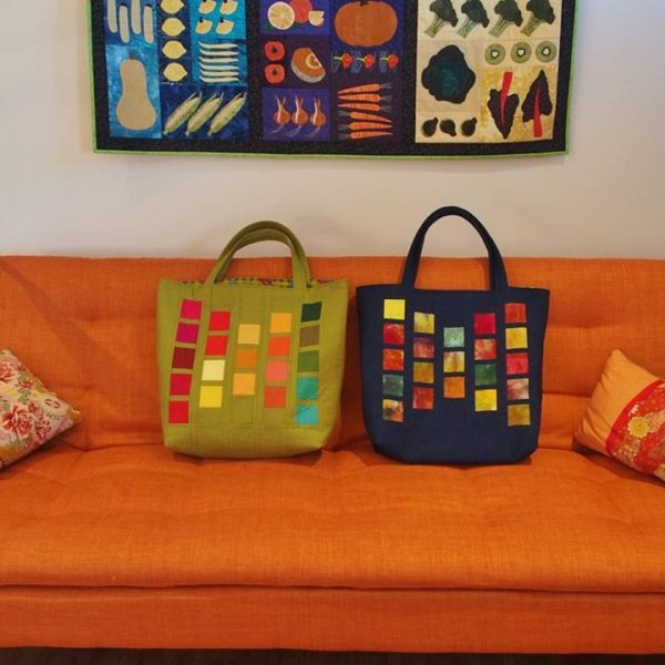 Paint Chip tote bag in 2 colorways