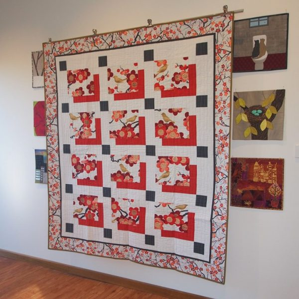 Finished Snowbirds quilt on my design wall