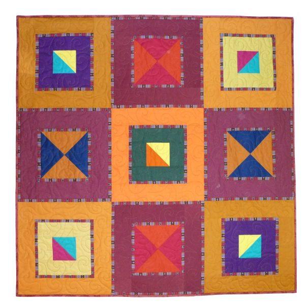 An alternate colorway for Ellen's Joy quilt