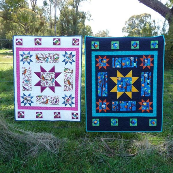 My two versions of the Peek a Boo quilt pattern