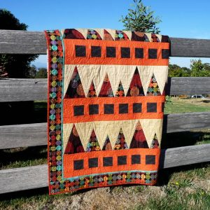 Sawtooth Mountains quilt pattern