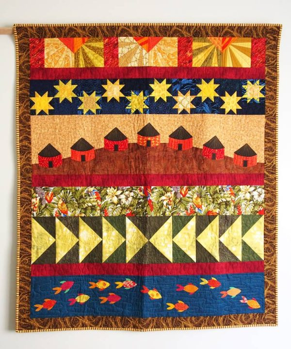 The Village sampler quilt
