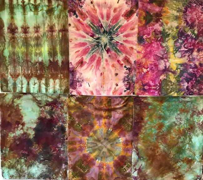 Ice dyed fabric from the workshop3