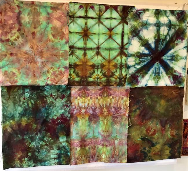 Ice dyed fabric from the workshop1