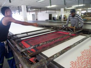 large scale screen printing