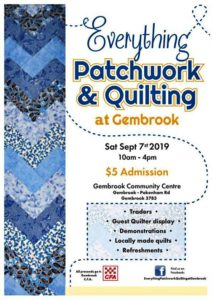 Gembrook patchwork and quilting event