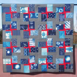 Double Crossed quilt in indigo