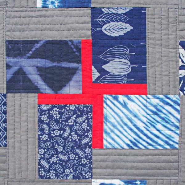 Double Crossed quilt small cross
