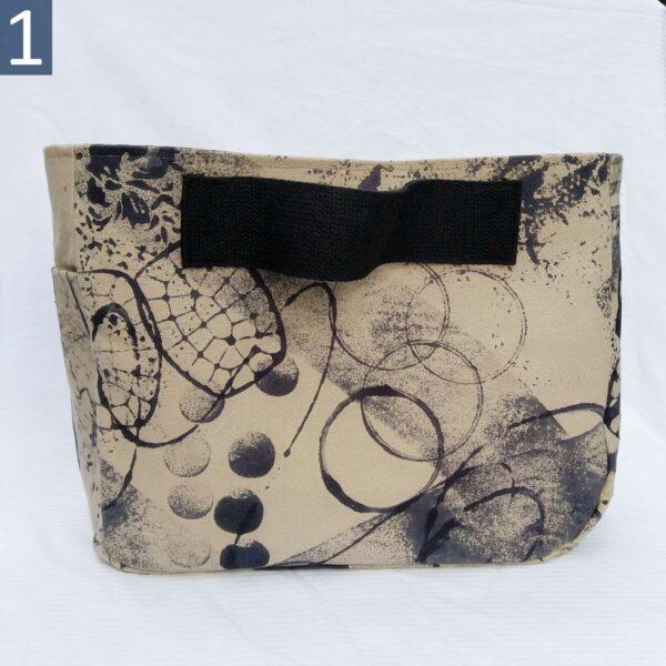 Handmade side handle canvas tote bag #1