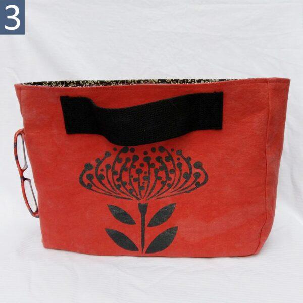 Handmade side handle canvas tote bag #3